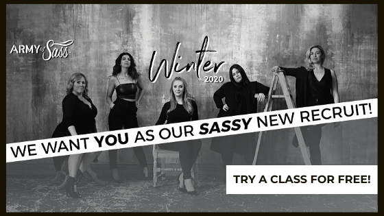 Try a class for free army of sass winter session